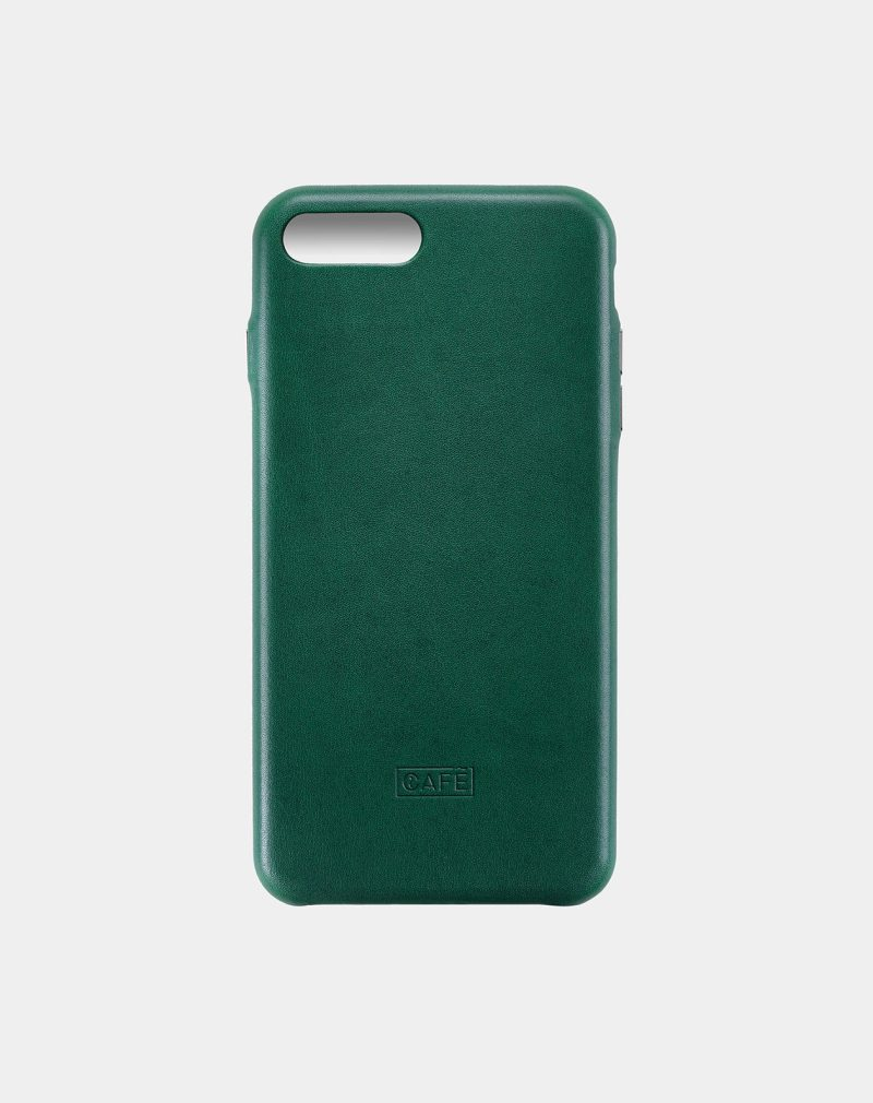 iphone 7 8 plus leather case green