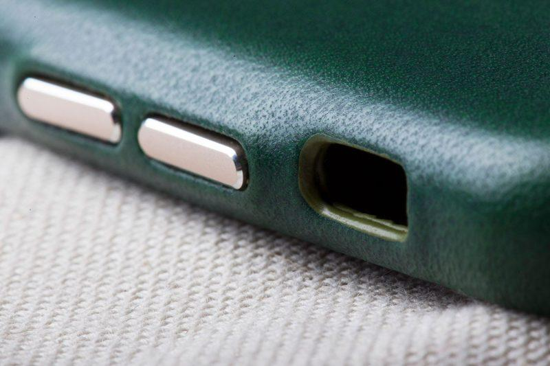 iphone leather case green