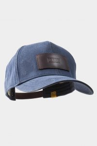 leather cap dark brown front side