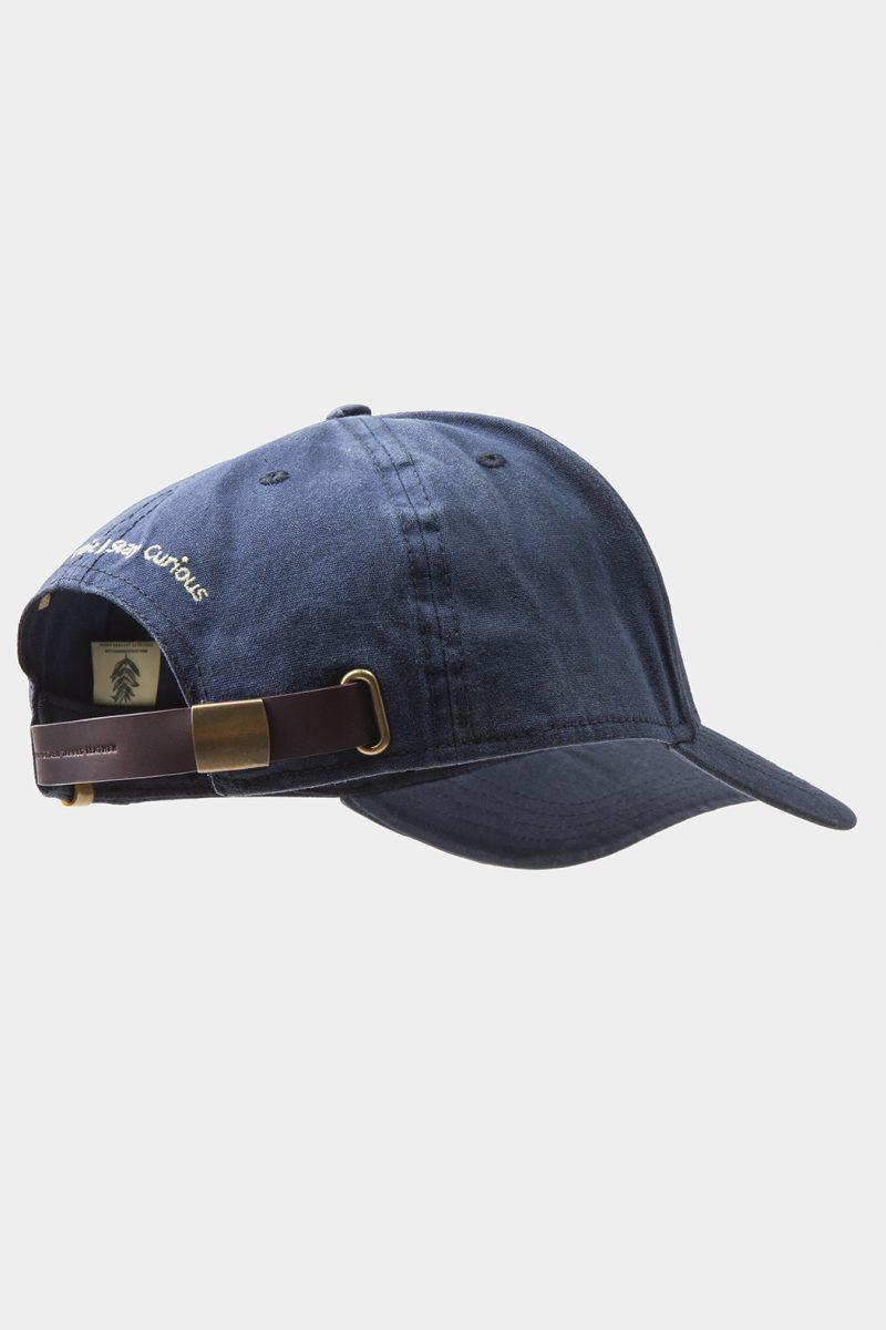leather cap dark brown side back