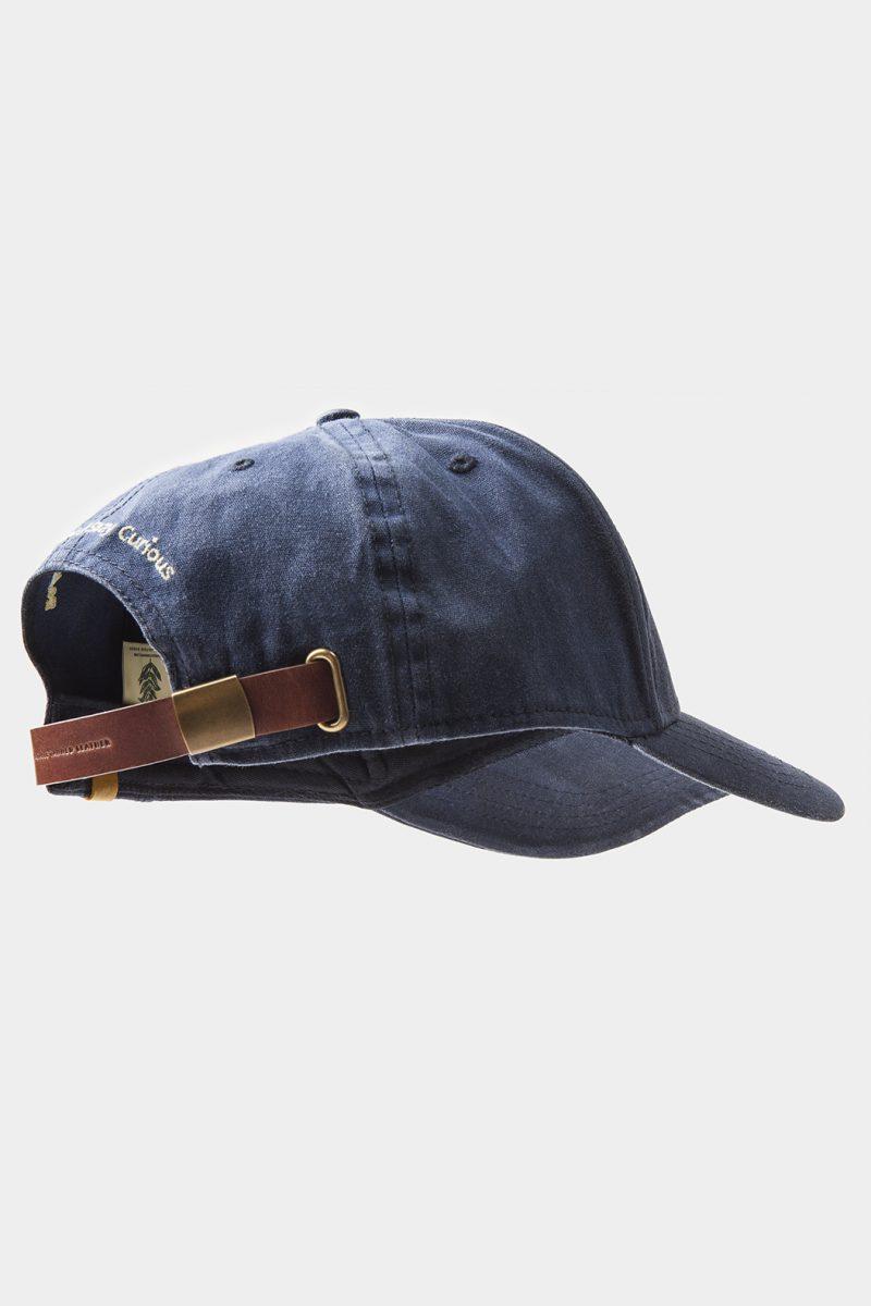 leather dark brown cap side back