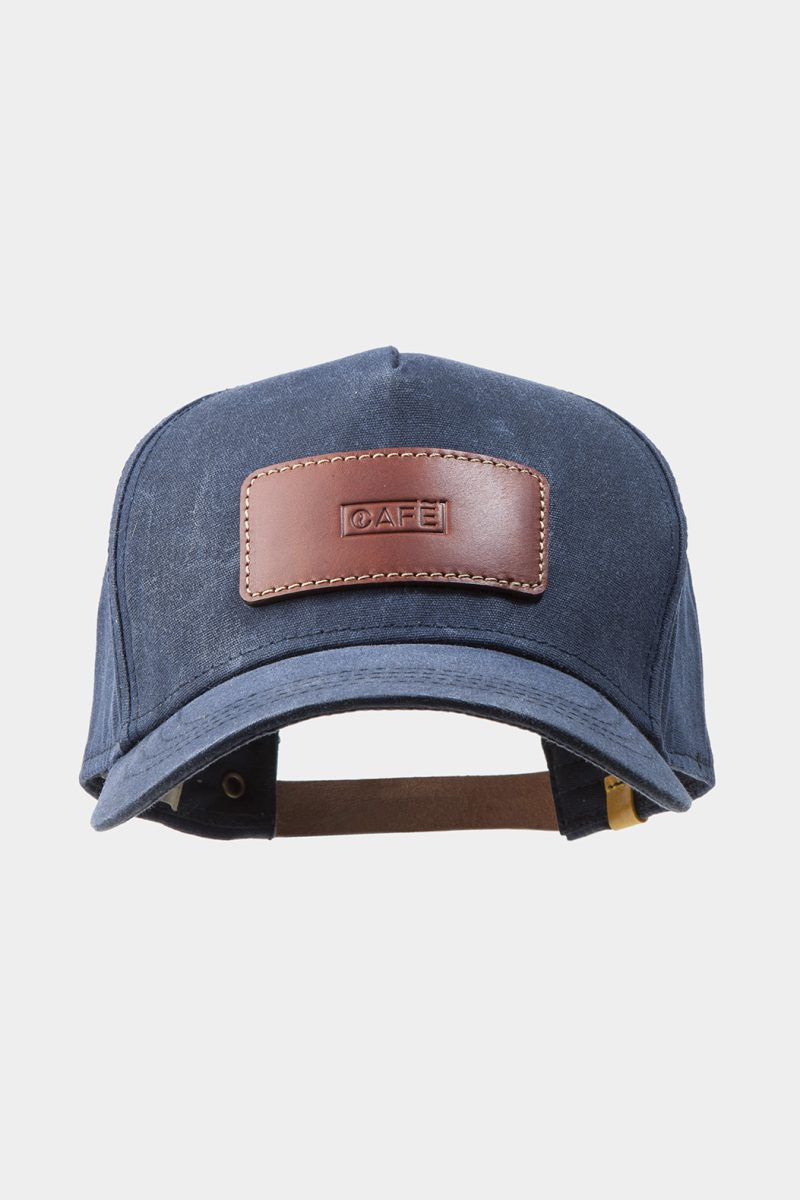 leather cap brown front