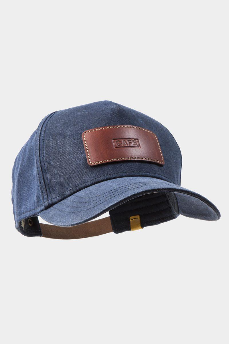 leather cap brown diagonal front