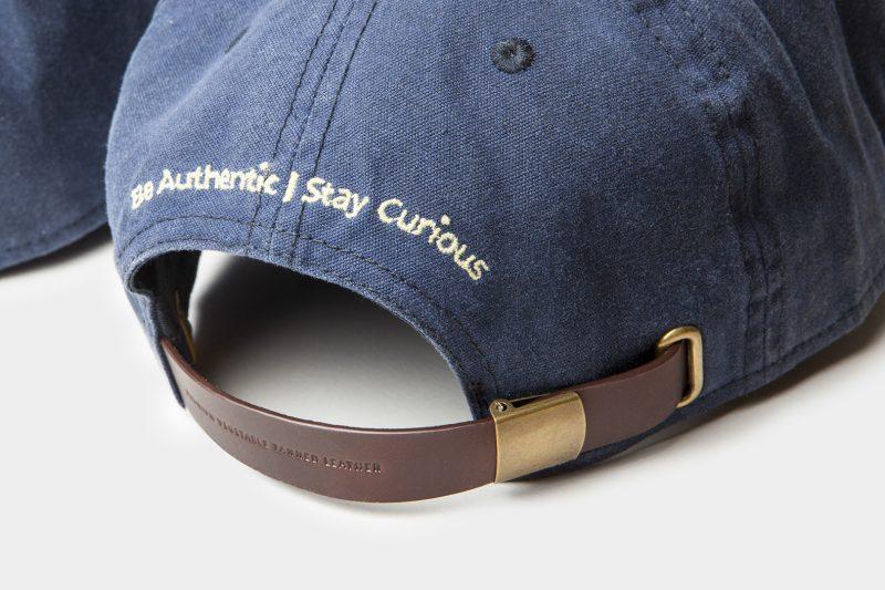 leather cap detail black back
