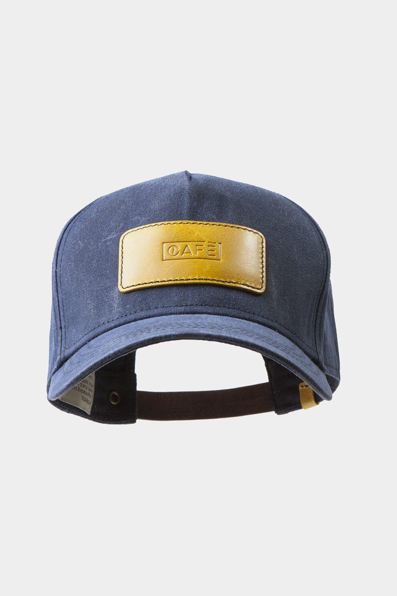 leather cap yellow front tilt