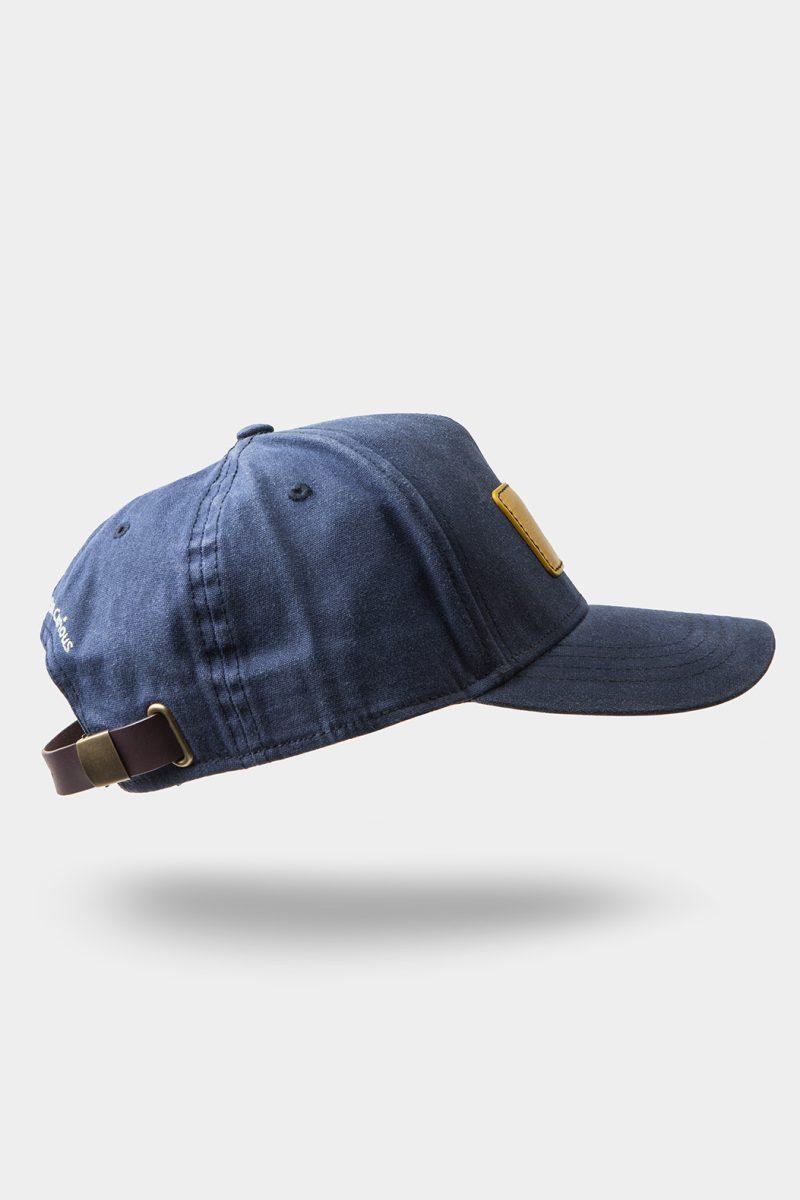 leather cap yellow side tilt
