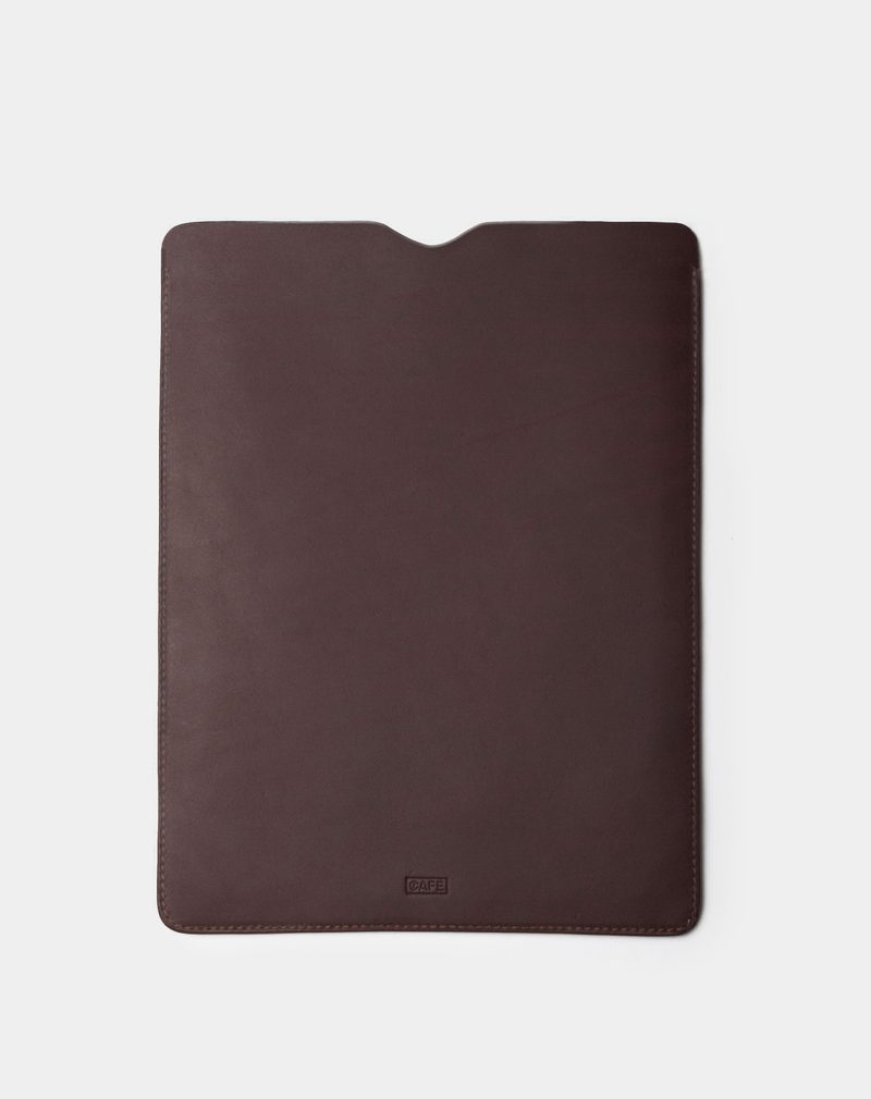 ipad leather case dark brown