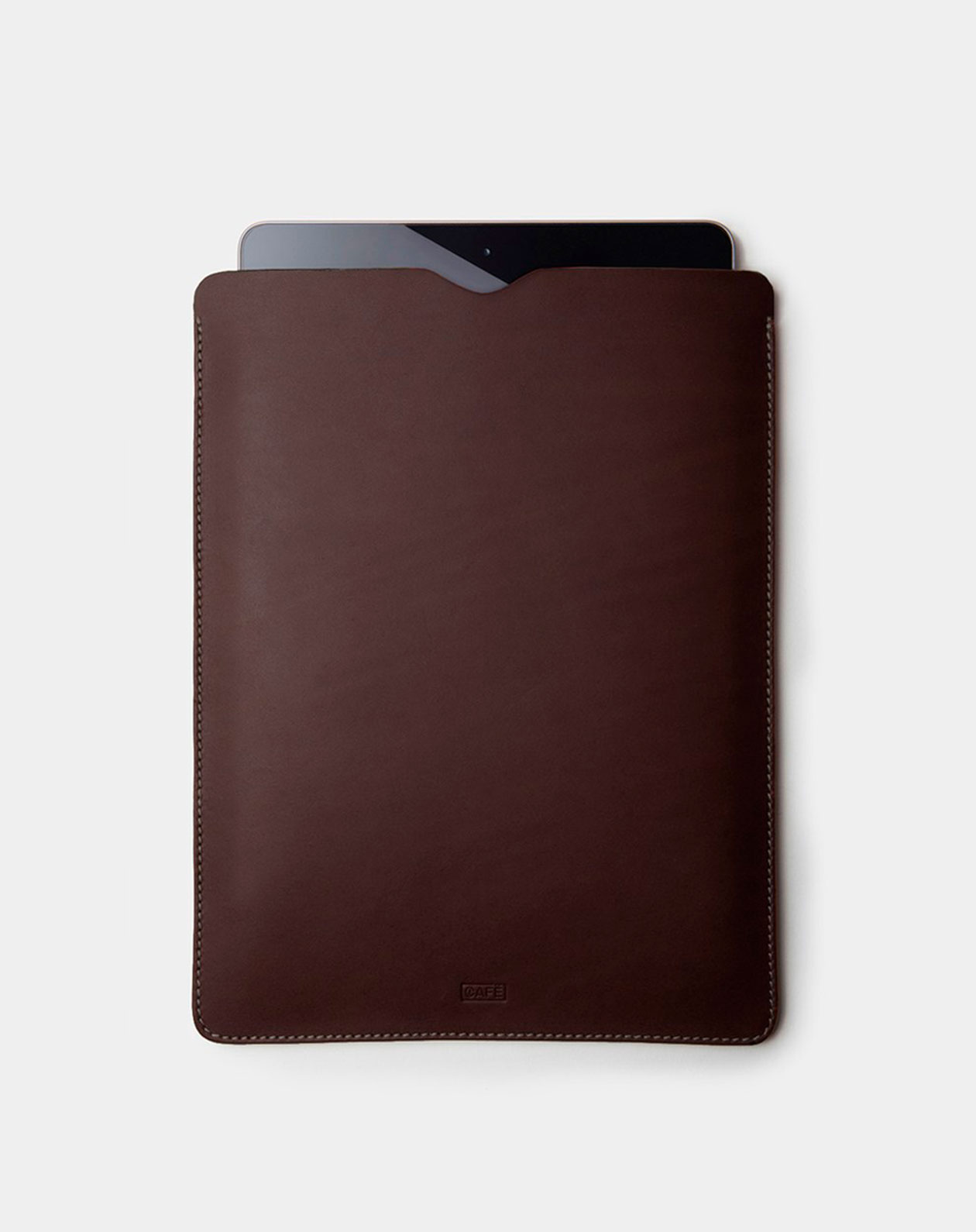ipad leather case dark brown