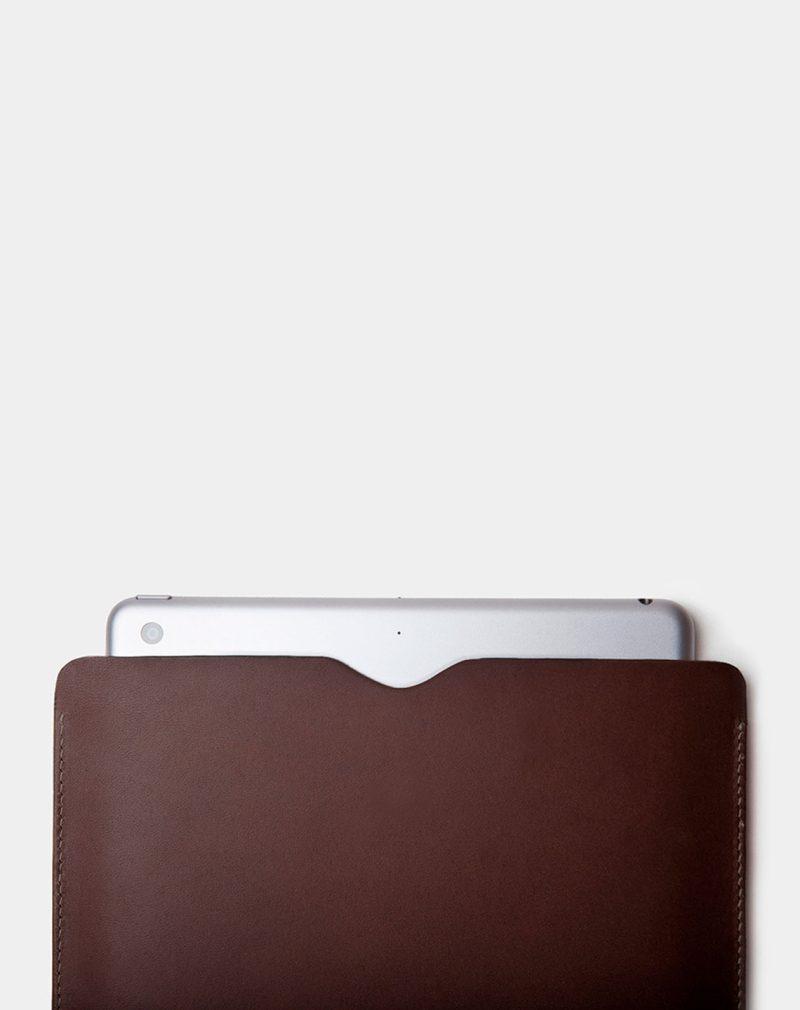 ipad leather case dark brown side