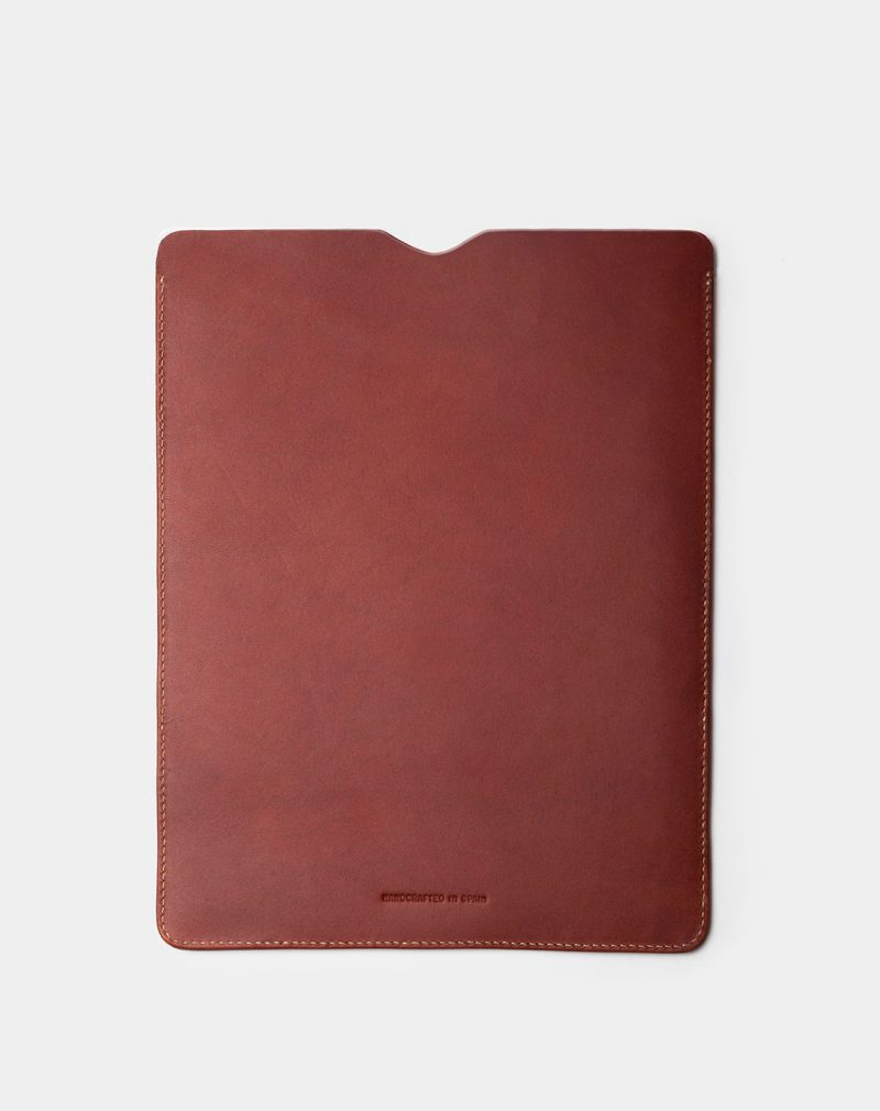 ipad case brown leather back