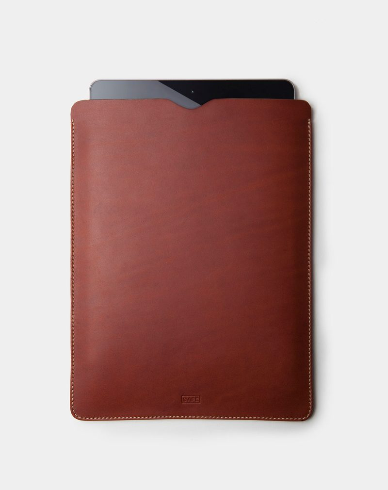 ipad case brown leather inside