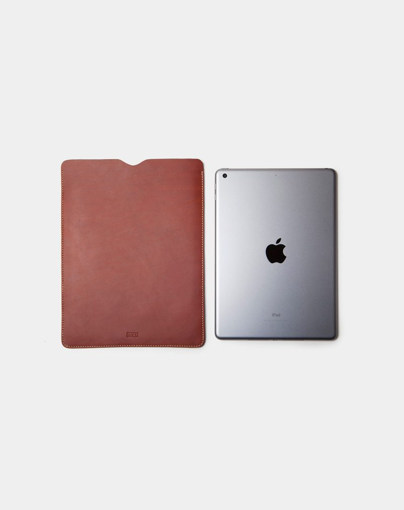 ipad case brown leather side