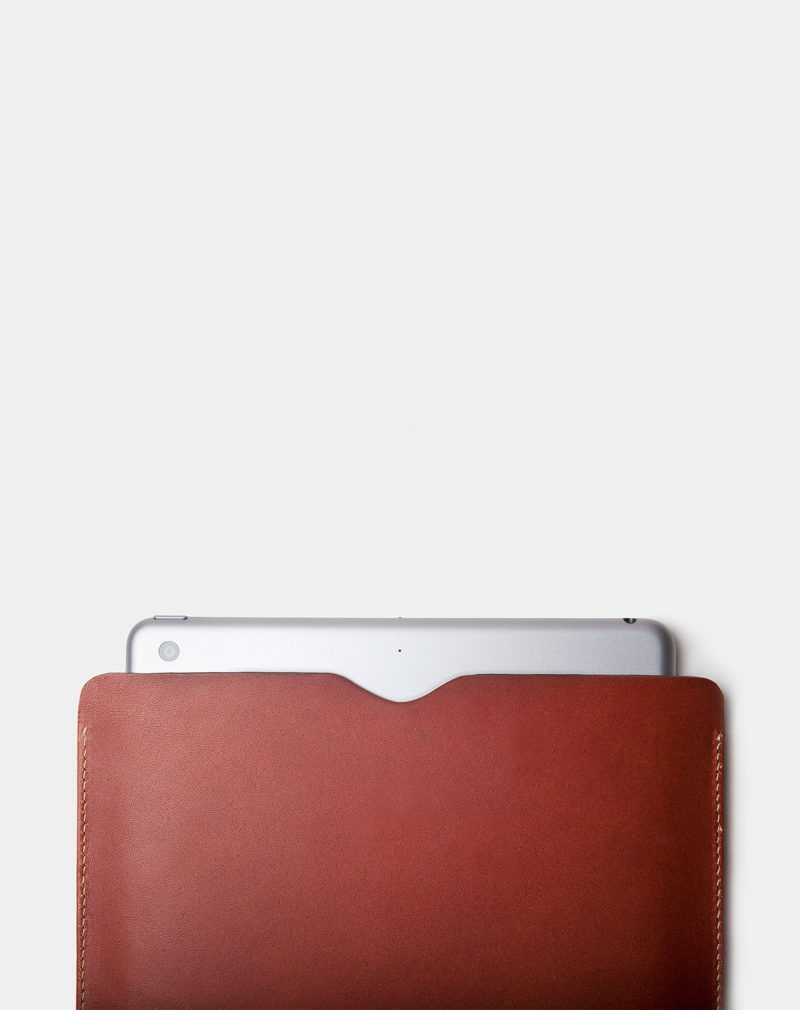 ipad case brown leather top