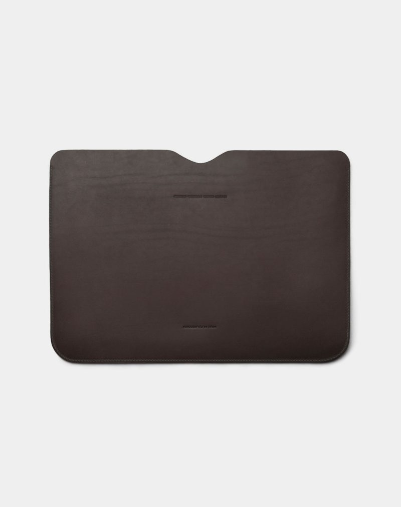 laptop case leather black back