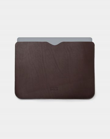 laptop case leather black use