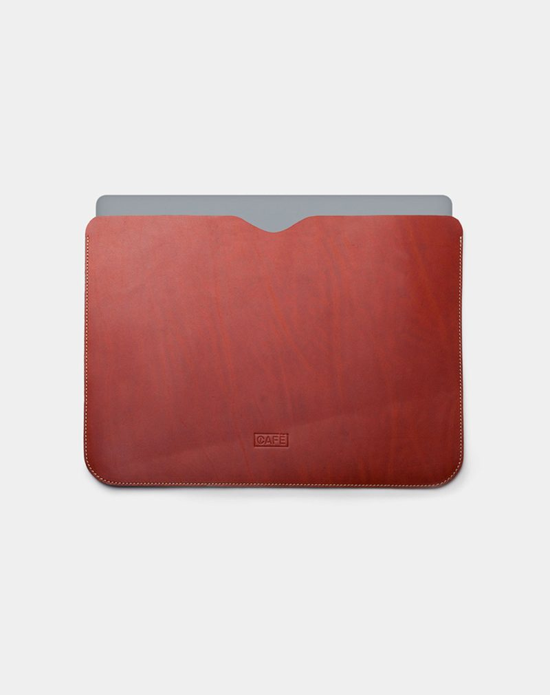 laptop case leather brown use