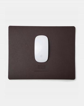 large leather mousepad black