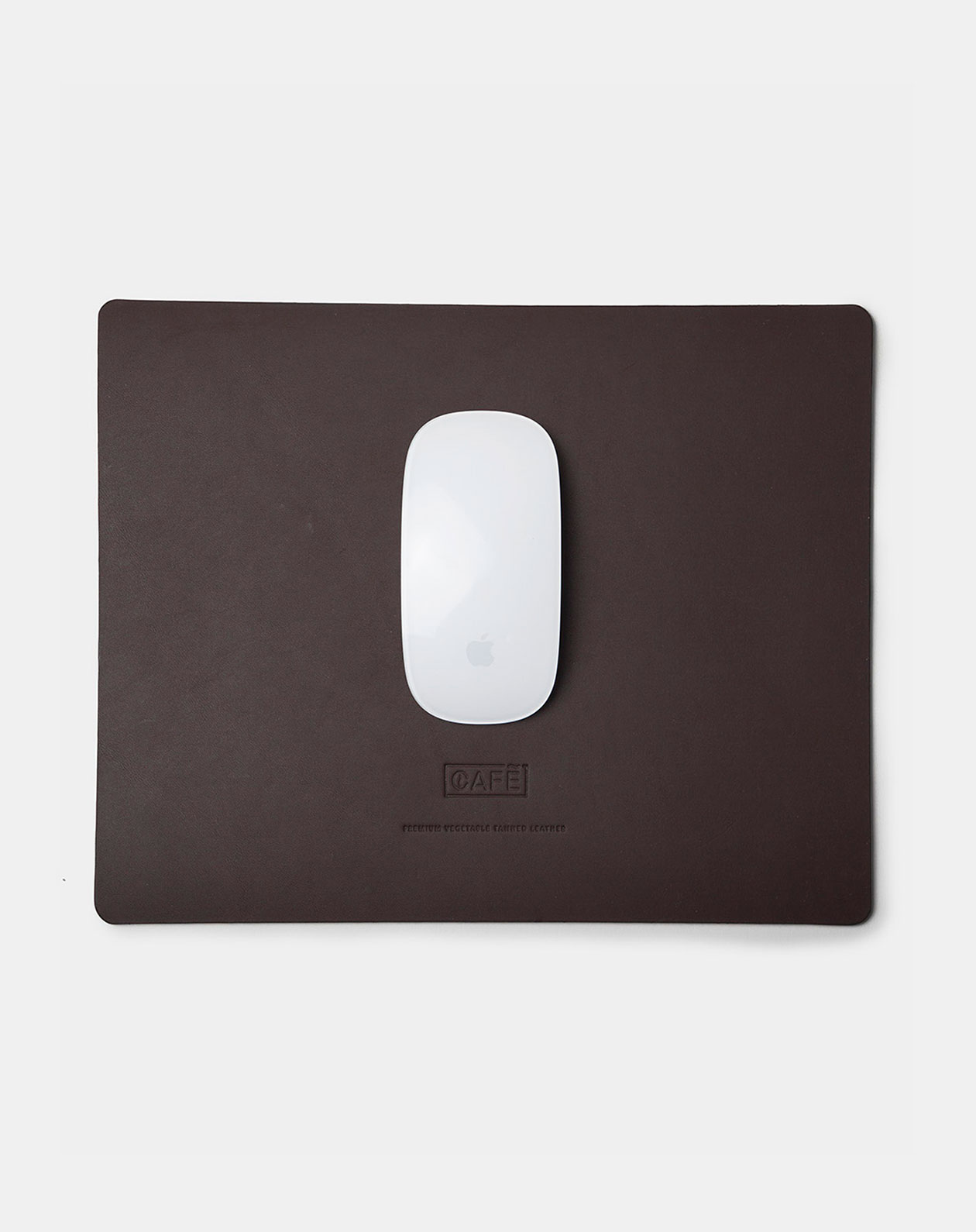 large leather mousepad black