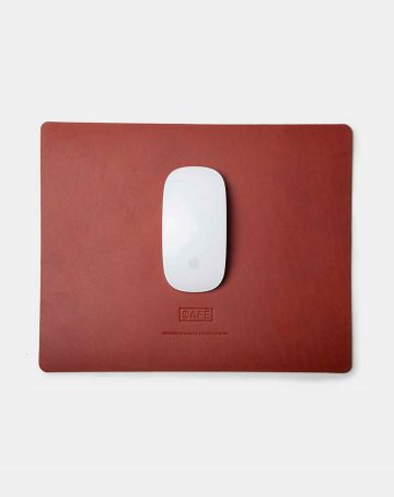 large leather mousepad brown