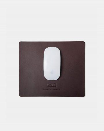 leather mousepad black