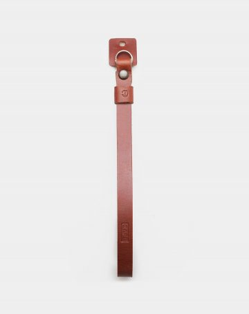 wrist camera leather strap open