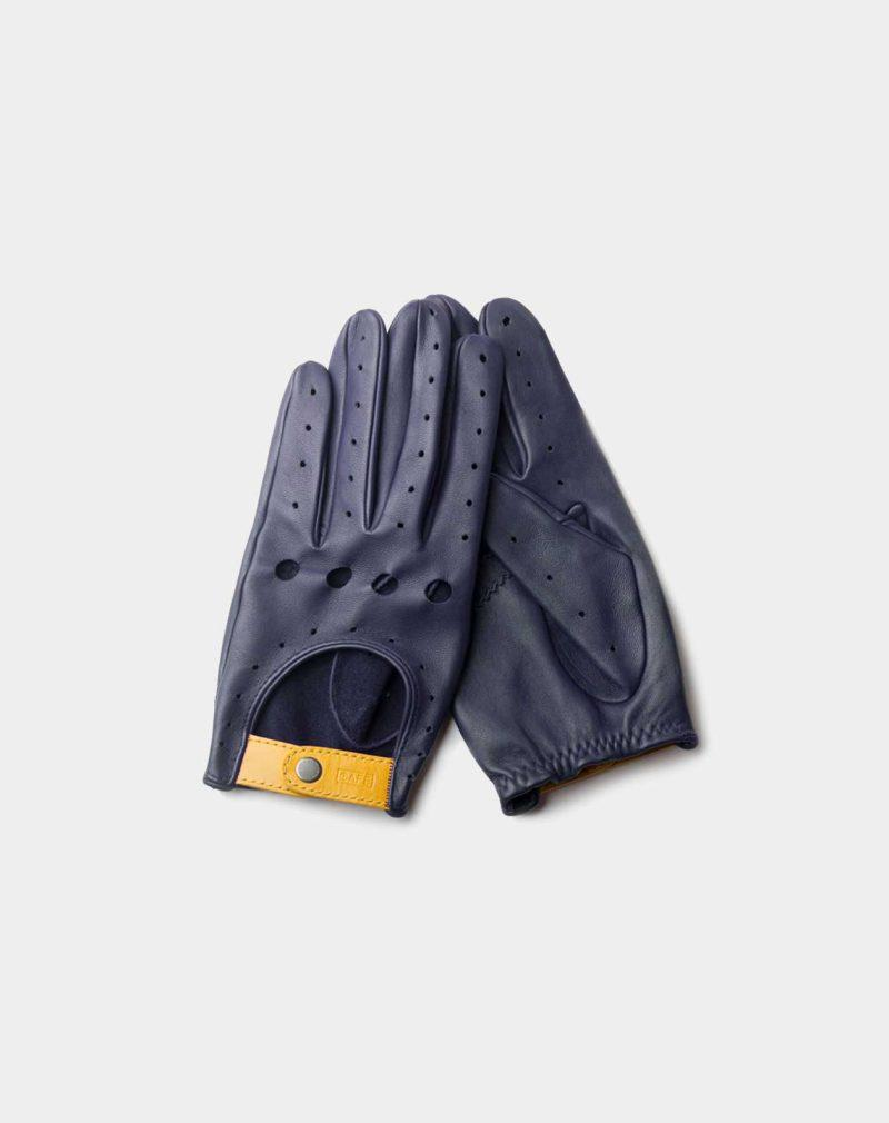 driving gloves blue leather