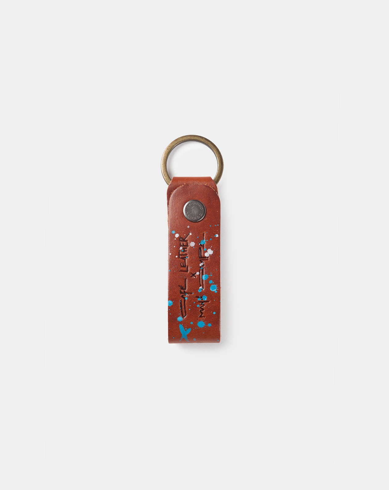 leather keychaine roasted manu campa