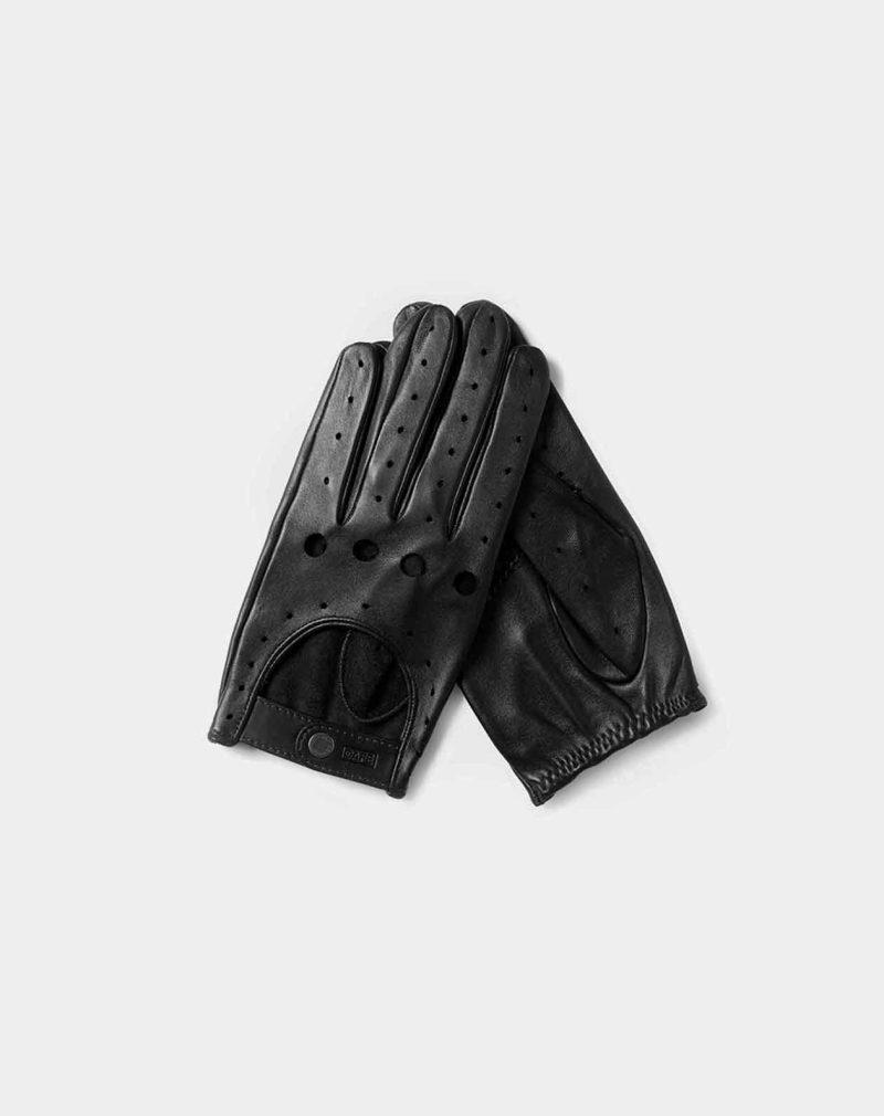Black driving gloves handcrafted in Spain