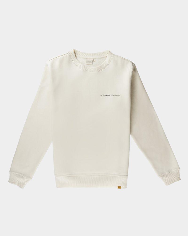 organic cotton sweatshirt white