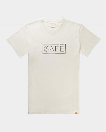 t shirt cafe white cotton