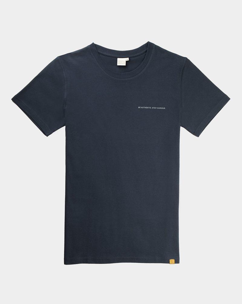 t-shirt 100% organic cotton navy