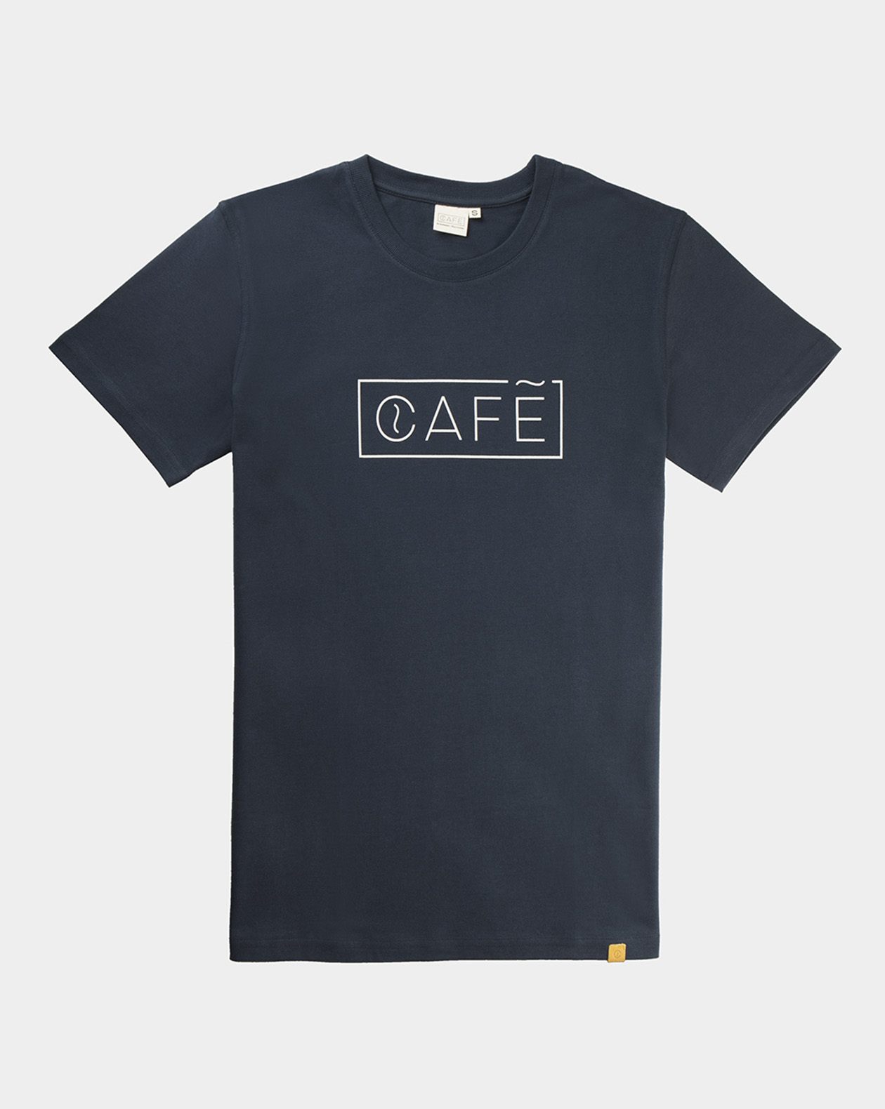 t shirt organic cotton navy