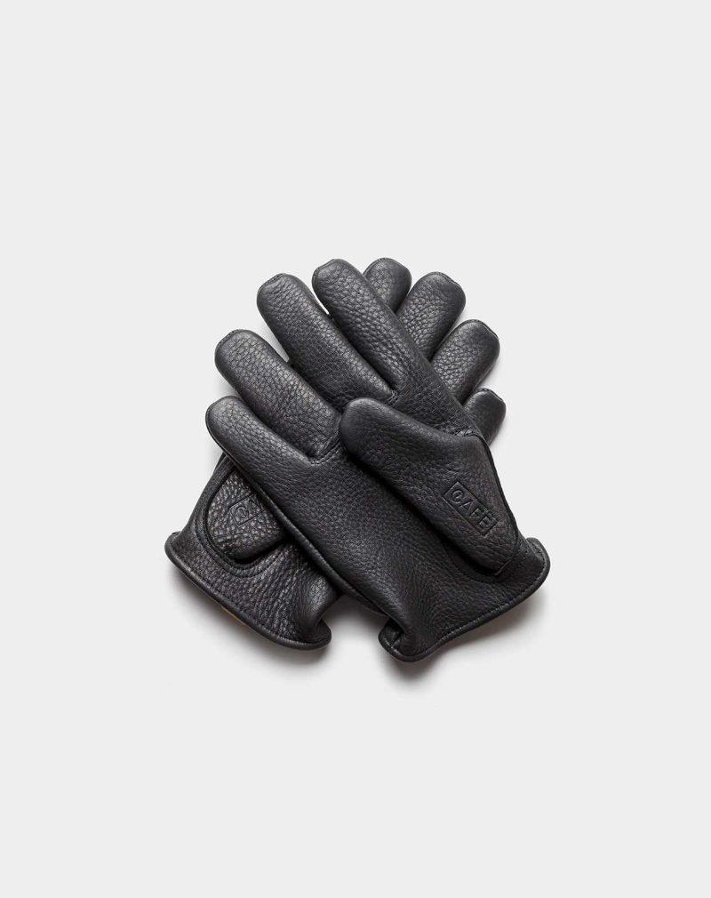 deerskin gloves black back