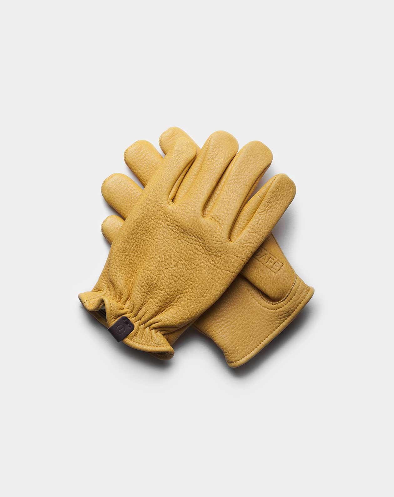 deerskin gloves yellow