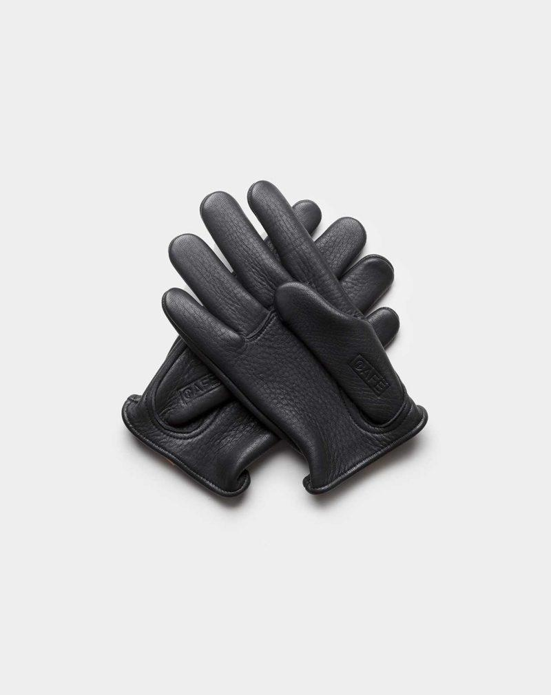 elkskin gloves black back
