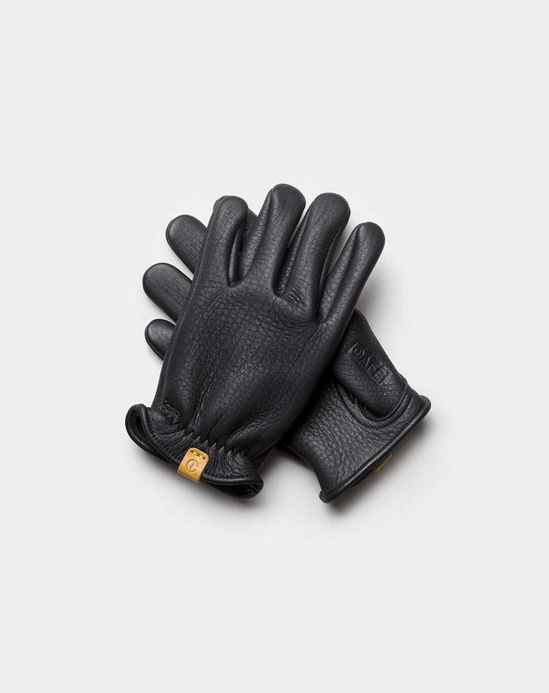 elkskin gloves black front