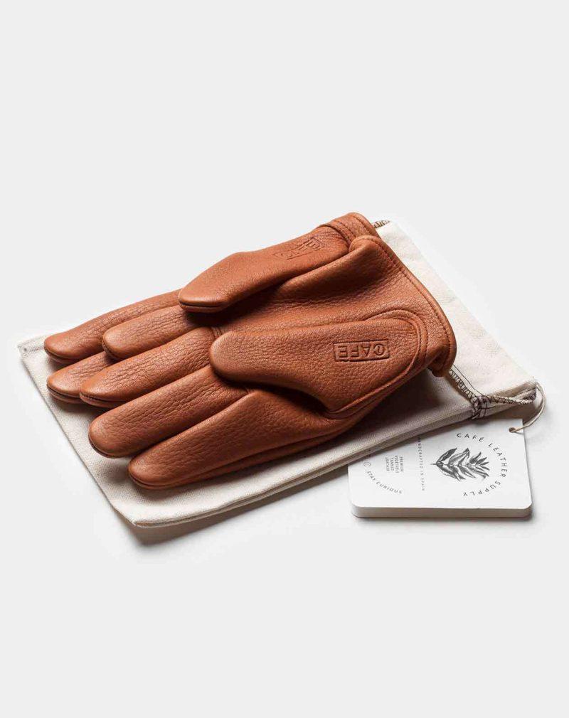 elkskin gloves roasted front