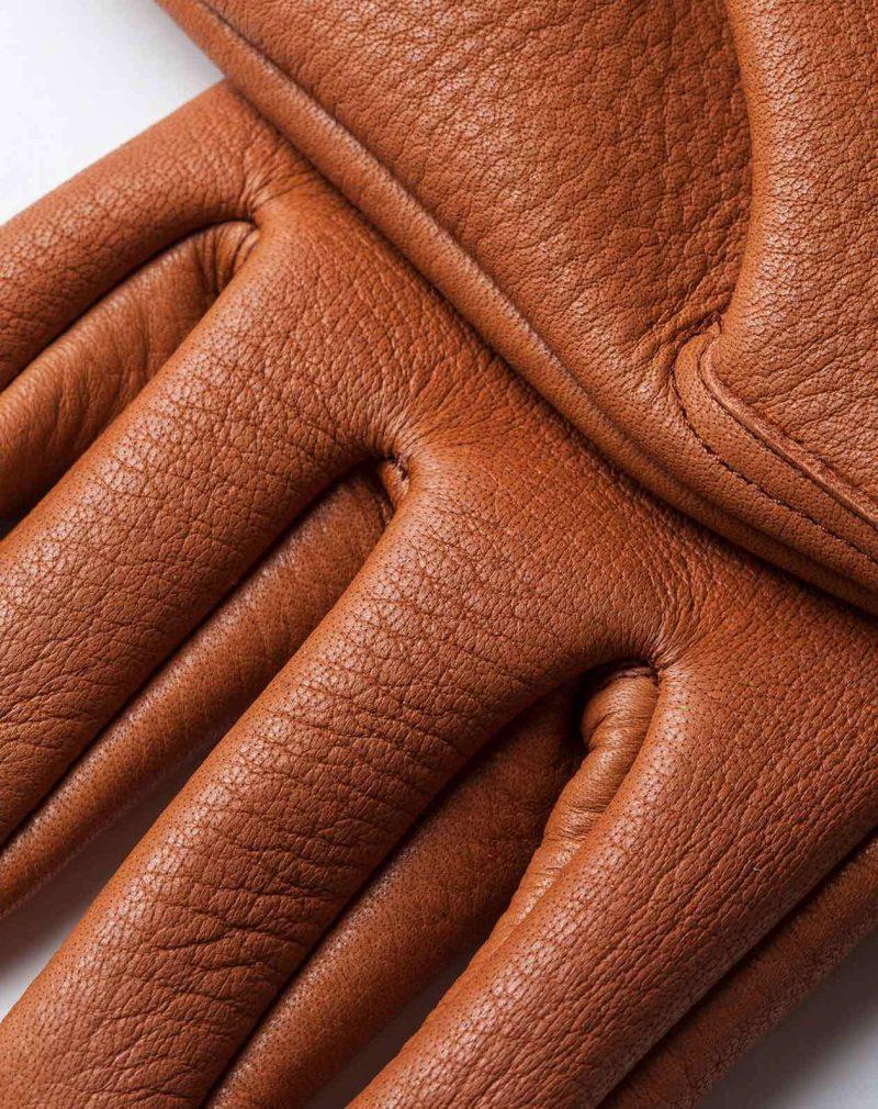 elkskin gloves roasted leather detail