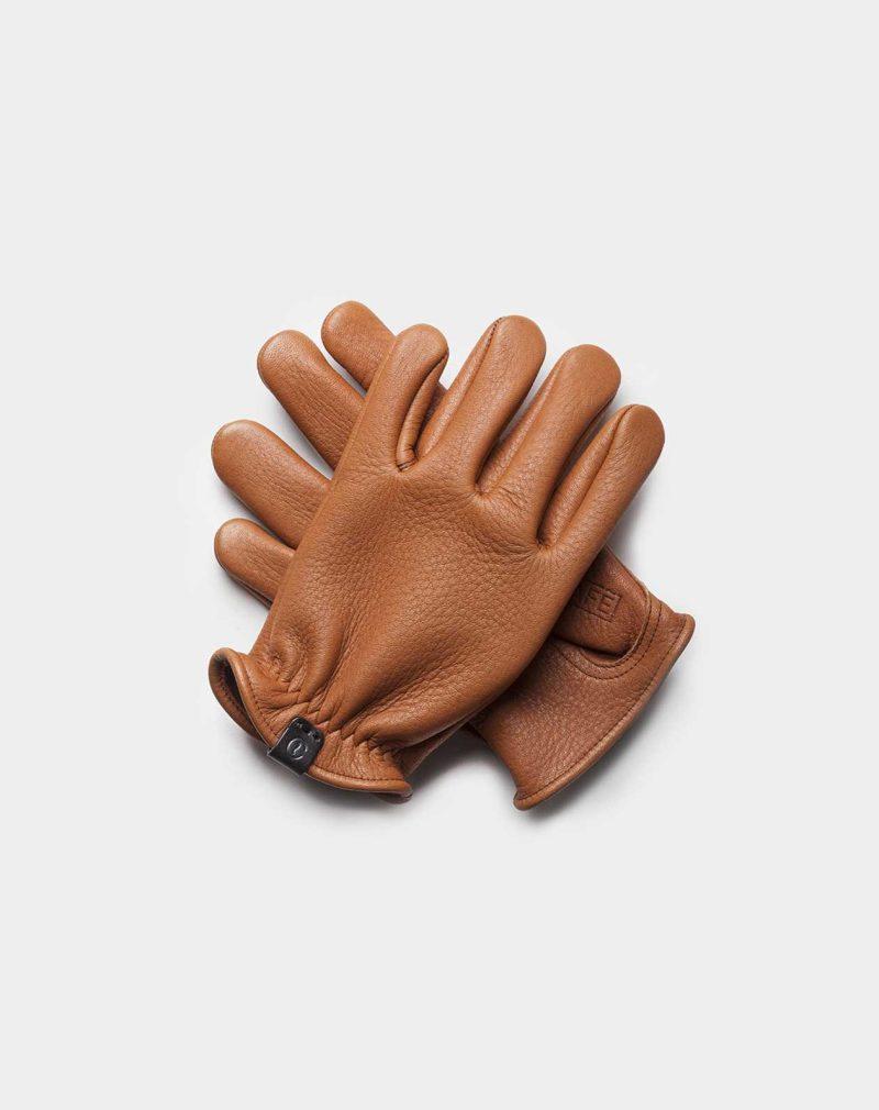 elkskin gloves brown front