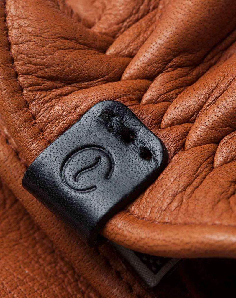 elkskin gloves roasted logo