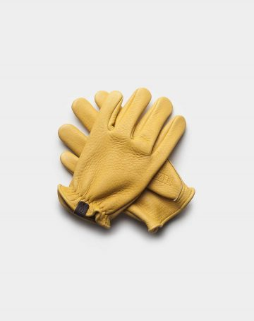 elkskin yellow gloves front