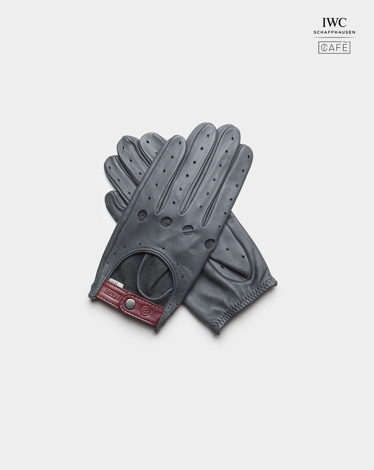IWC driving gloves grey color