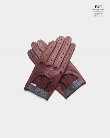 guantes de conducir IWC burgundy