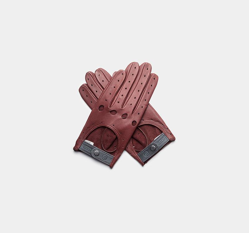 iwc driving gloves red