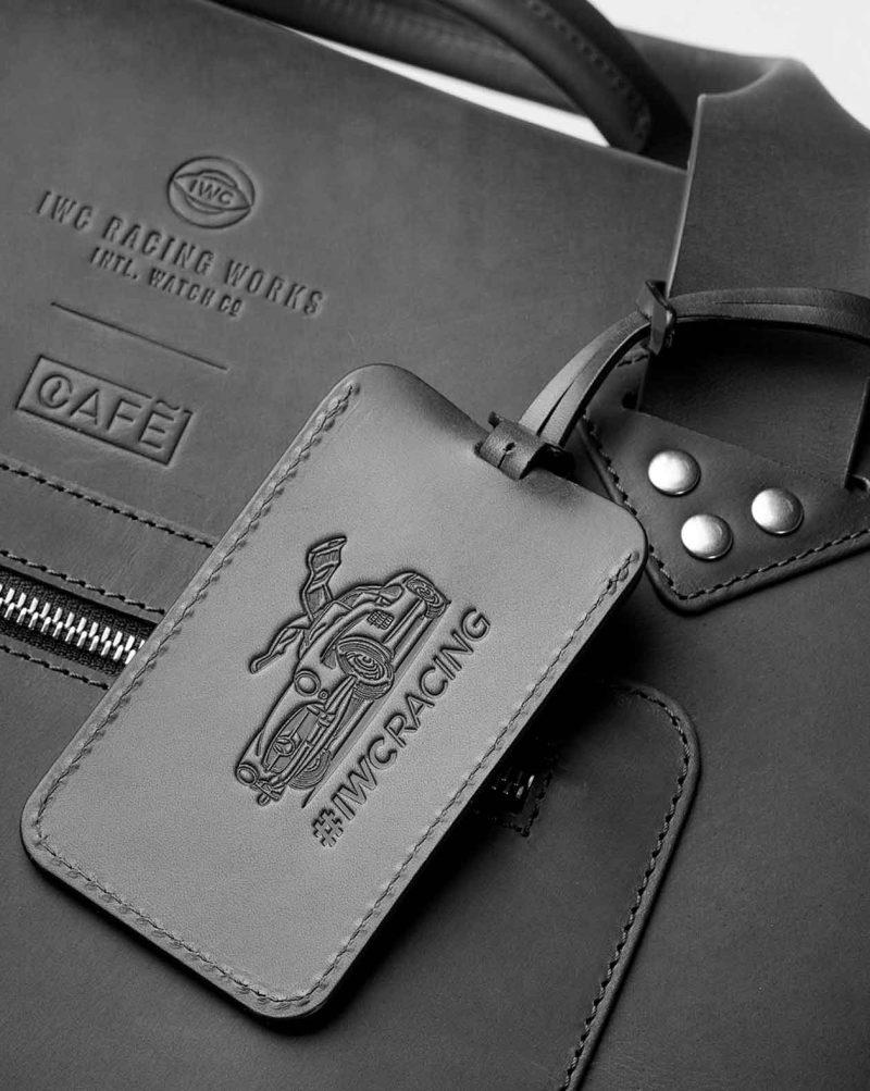 iwc luggage tag black detail