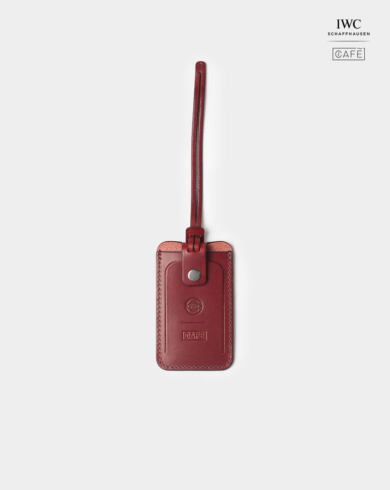 iwc luggage tag red