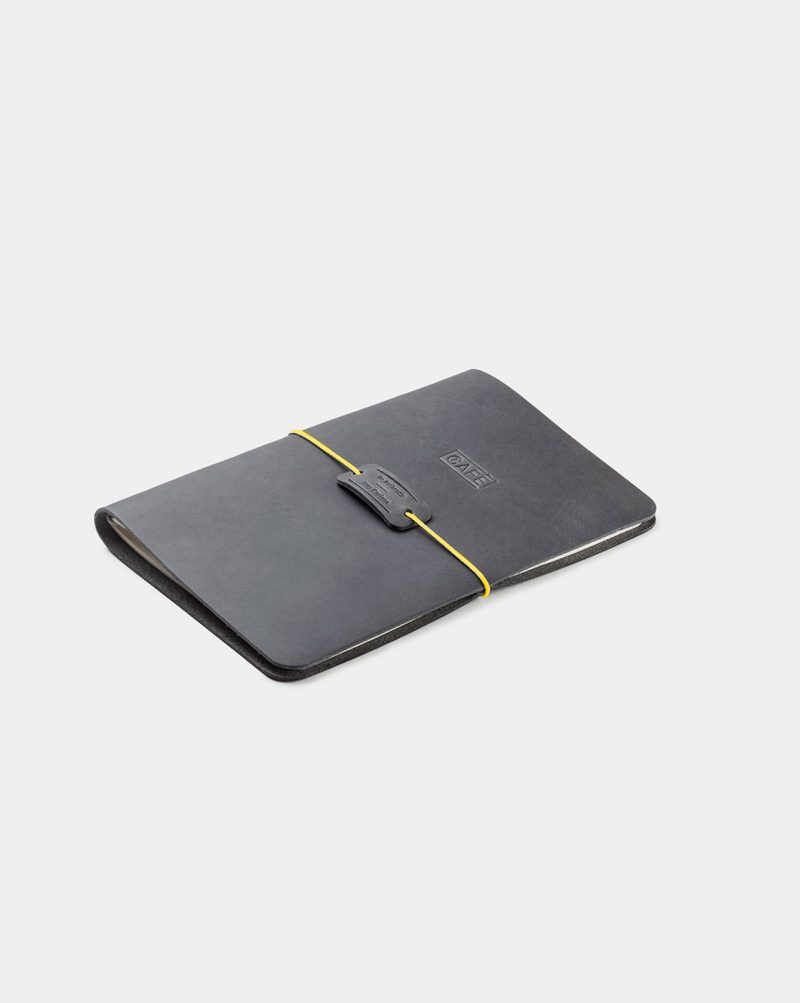 leather notebook grey diagonal