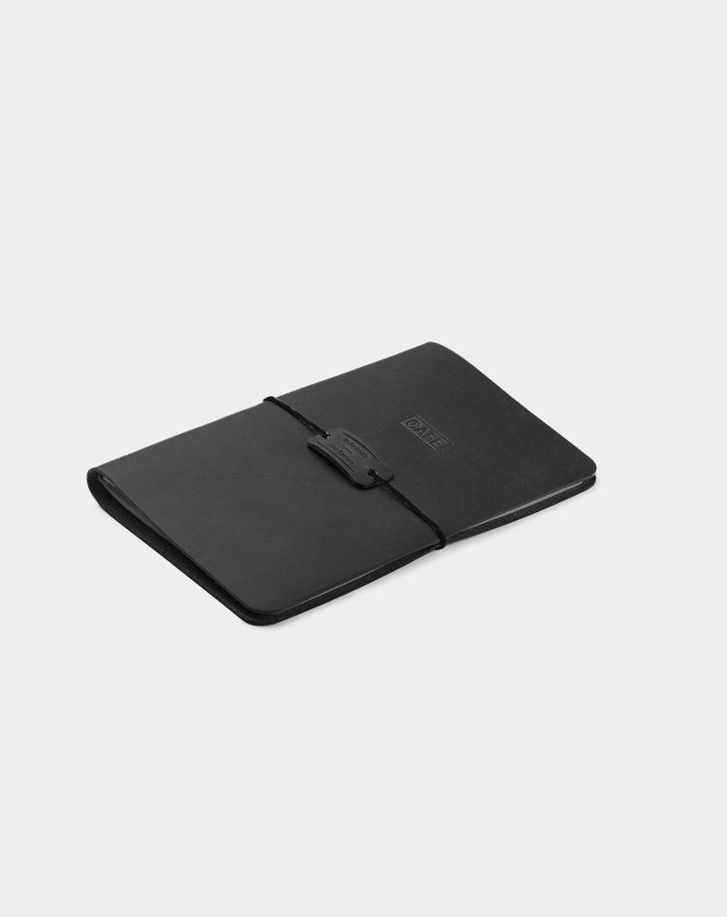 handmade leather notebook black