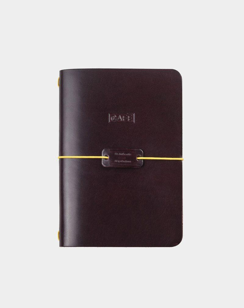 handmade leather notebook burgundy