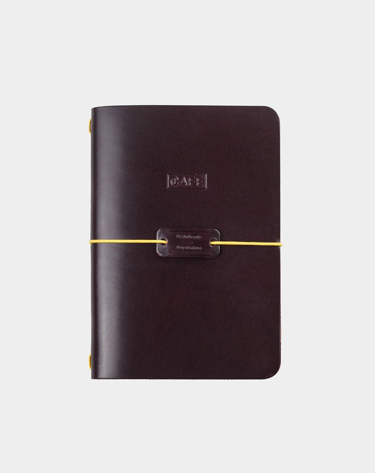 cuaderno de piel burgundy